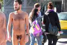 Video: Walking Naked through Barcelona