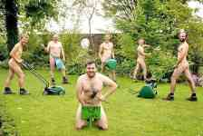 Male naturists from around the world celebrate World Naked Gardening Day